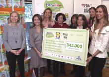 "«Babygive» from Babylino Sensitive. We offer from the bottom of our heart and we fully cover the need of the members of the Union ""Together for Children"" in baby diapers for the year 2018. - Κεντρική Εικόνα"