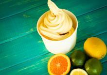 Παγωμένο γιαούρτι με φρούτα