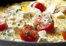 Ομελέτα με τυρί και λαχανικά