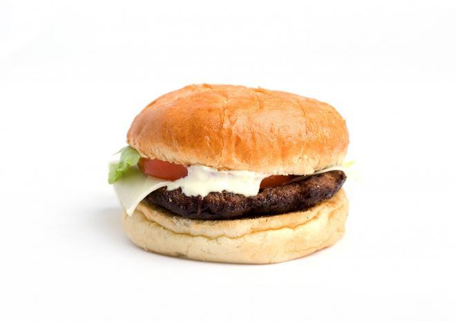 Cheeseburger με λαχανικά