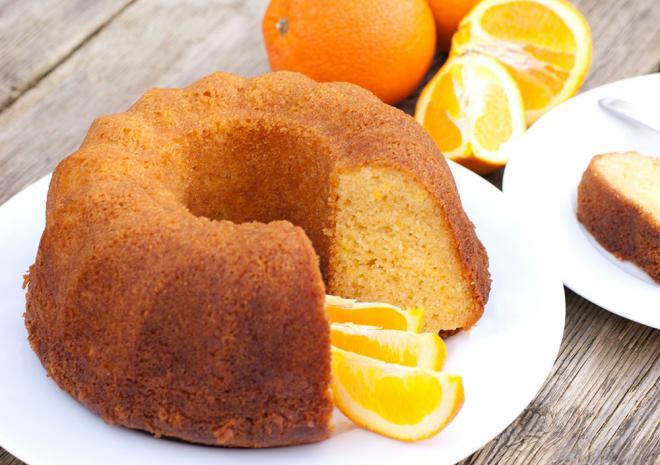 Κέικ με ελαιόλαδο και πορτοκάλι