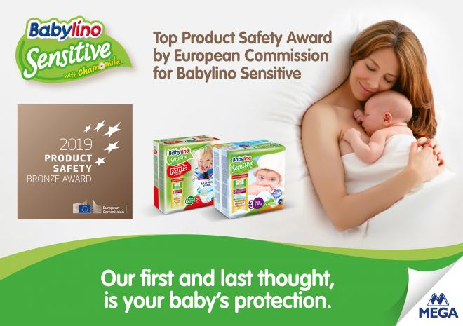 Top Product Safety Award by European Commission for Babylino Sensitive - Κεντρική Εικόνα