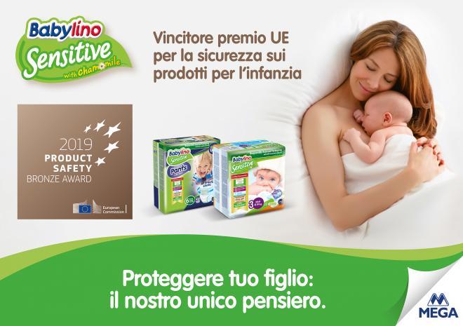 I Pannolini Babylino Sensitive vincono il premio «Product Safety Award» assegnato dalla Commissione Europea - Κεντρική Εικόνα